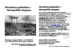 Flyer Hiroshima Tag - Gedenken