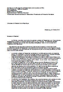 Brief an Nicolas Sarkozy